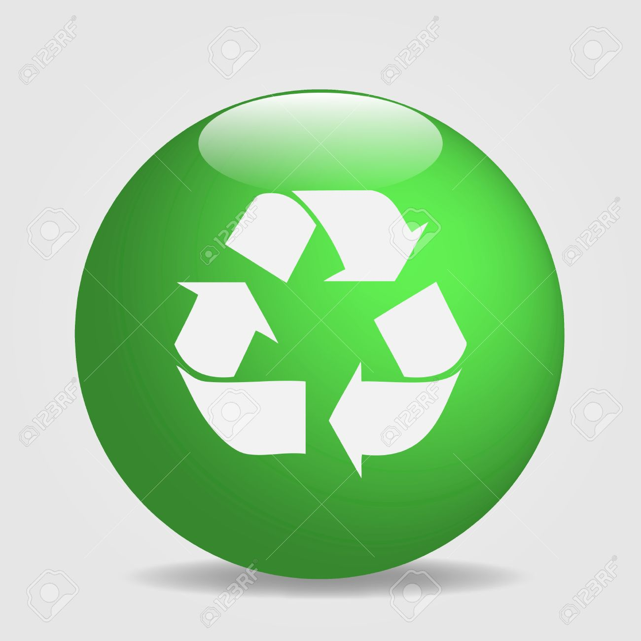 Greenv0512485523 Image Of A Globe With The Recycle Symbol